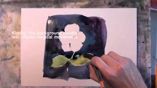 Watercolor Technique Negative Space