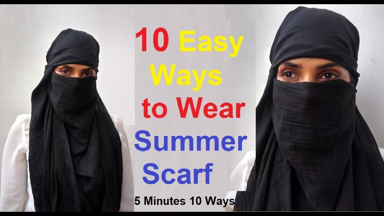 How To Tie A Summer Scarf