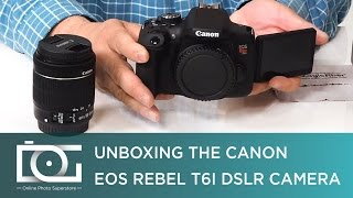 UNBOXING REVIEW | CANON EOS Rebel T6i W/ EF-S 18-55mm f/3.5-5.6 IS STM Zoom Lens