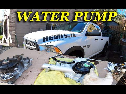 HOW TO REPLACE WATER PUMP ON A 2012 – 2017 DODGE RAM 1500