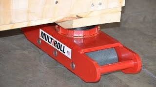 Moving a Heavy Crate Using MultiRoll Roller Skids
