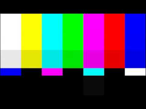 Television test screen (pattern) and sound - 12 hours