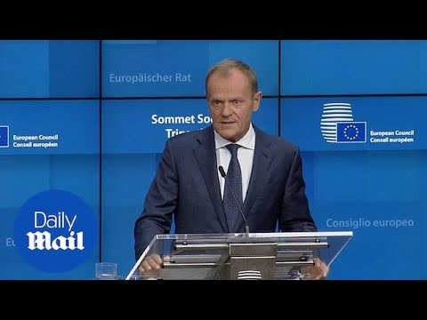 Tusk warns he has no grounds for optimism on a Brexit deal