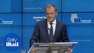 Tusk warns he has 'no grounds for optimism' on a Brexit deal