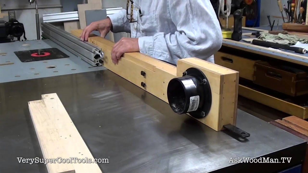 Diy router table fence - Diy Router Fence With Dust Collection Attaching To Extrusion Youtube