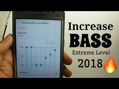 How To Increase Bass By Using Samsung Music Player  EXTREME LEVEL