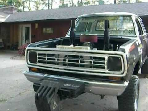 Build A Dodge Truck >> 1975 Dodge pulling truck - YouTube