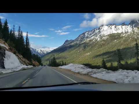 Traveling scenic Highway 20.