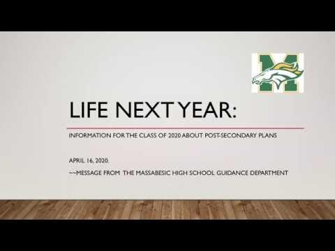 Class of 2020 - College Information, April 2020, Massabesic High School