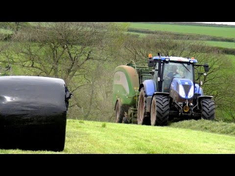 Raking and Baling for Silage '16  --  New Holland and McHale Action