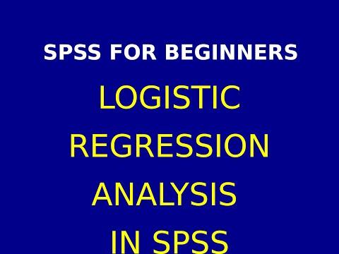 28  SPSS Logistic Regression Analysis Interpretation in Hindi