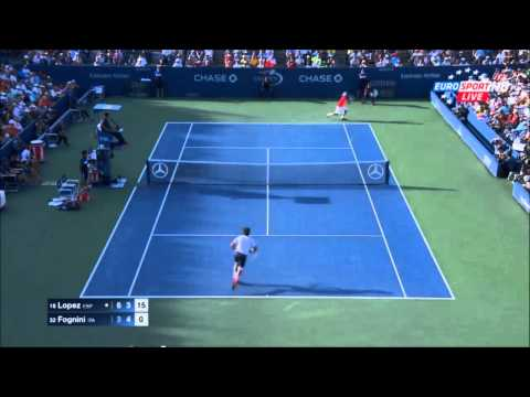 US Open 2015 - Feliciano Lopez vs Fabio Fognini - Highlights
