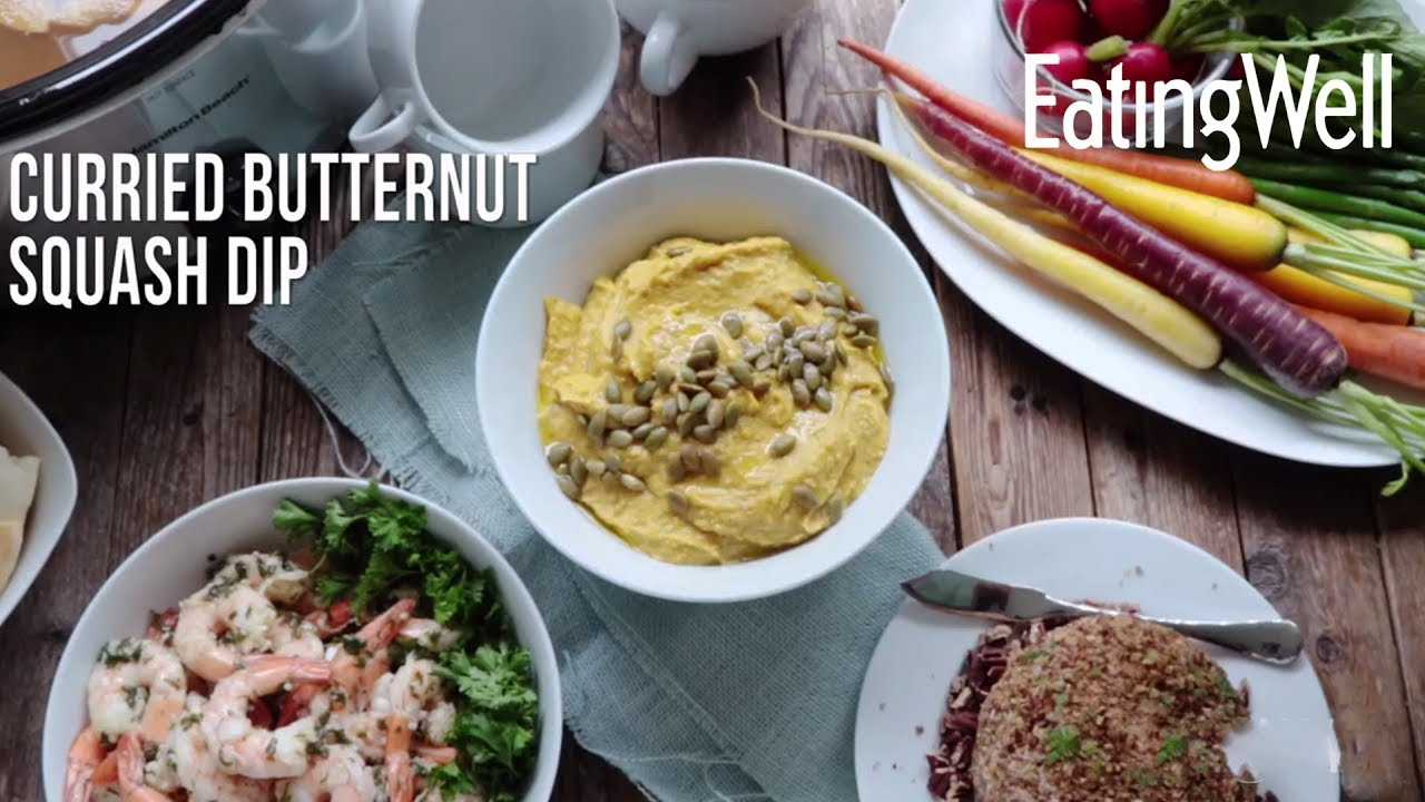 How To Make Healthy Creamy Butternut Squash Dip - YouTube