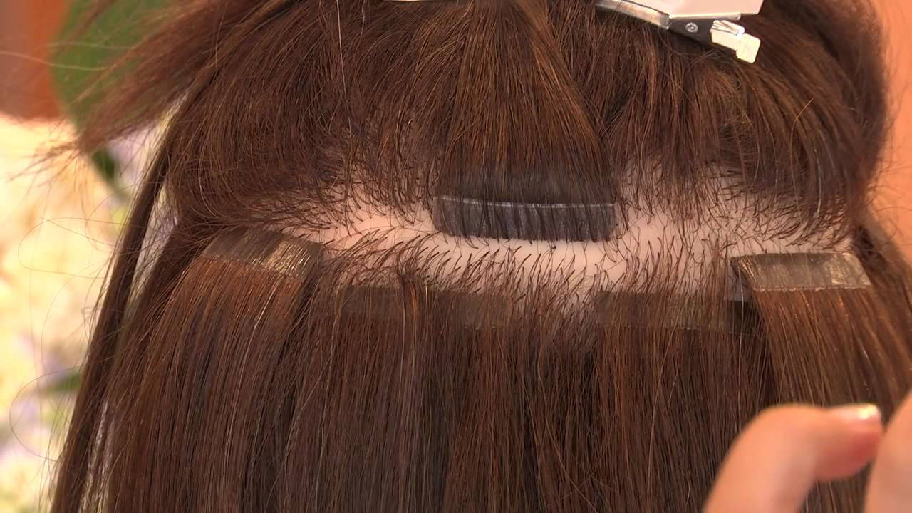 How To Apply Strip Bondshot Head Hair Extensions Youtube