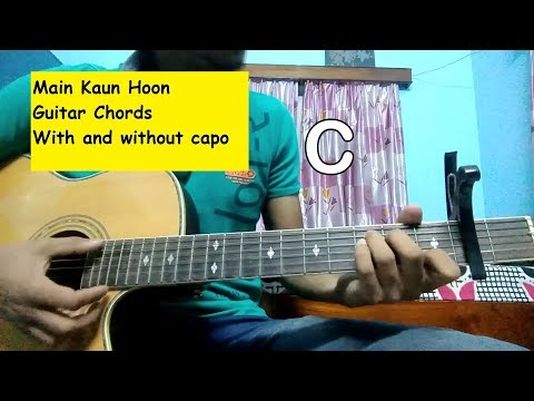 Main Kaun Hoon (On Screen Guitar Chords) | With And Without Capo | Secret Superstar