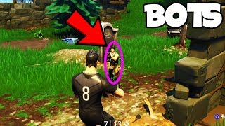 BOTS In FORTNITE... (GAMEPLAY WITH EPIC'S RESPONSE)