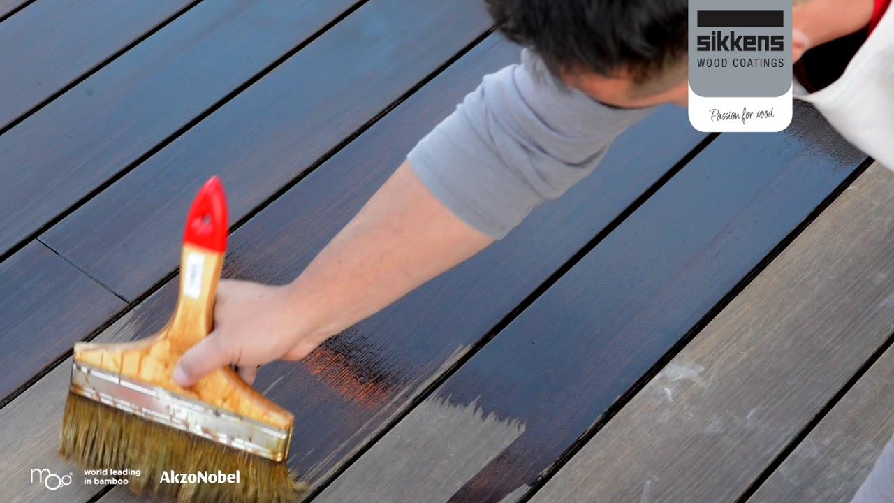 Moso Bamboo X Treme Entretien De La Lame De Terrasse Avec Le Sikkens Cetol Wf771