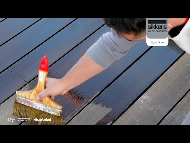 Moso Bamboo X-treme Entretien de la lame de terrasse avec le Sikkens Cetol WF771