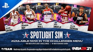 NBA 2K21 - MyTEAM: All-Star Spotlight Sim | PS5, PS4