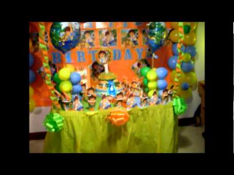 Nuestra decoraciones de cumplea os youtube - Decoraciones de cumpleanos ...