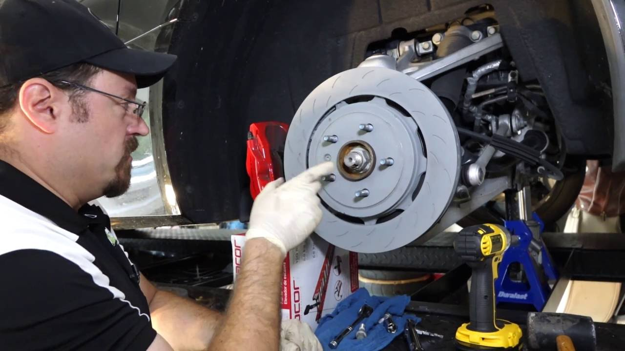 How to Change Rear Brake Rotors on a C7 Corvette Z51 | Sons of Speed - YouTube