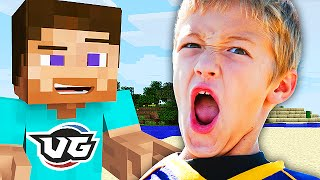 PISSED OFF 5 YEAR OLD IN MINECRAFT (Squeaker Trolling)