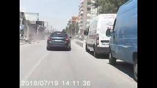 Konya'da kaza anı araç kamerasında!