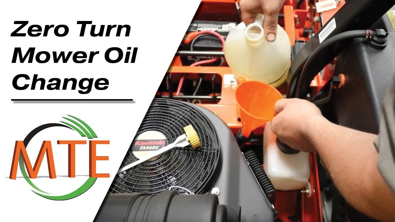 How to change the oil and oil filter on a zero turn mower
