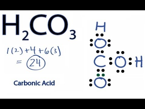 h2co3 lewis structure: how to draw the lewis structure for carbonic acid -  youtube