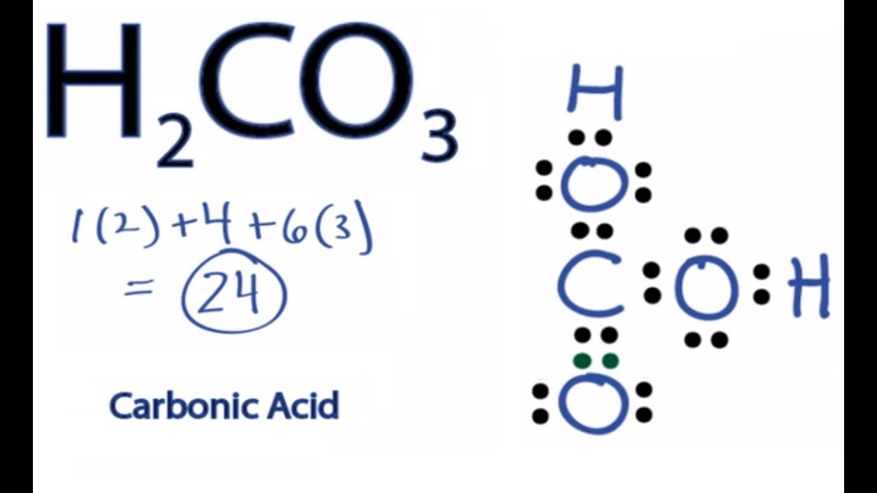 h2co3 lewis structure how to draw the lewis structure for carbonic acid [ 1280 x 720 Pixel ]