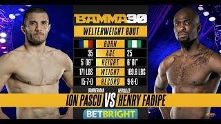 BAMMA 30: Ion Pascu vs Henry Fadipe