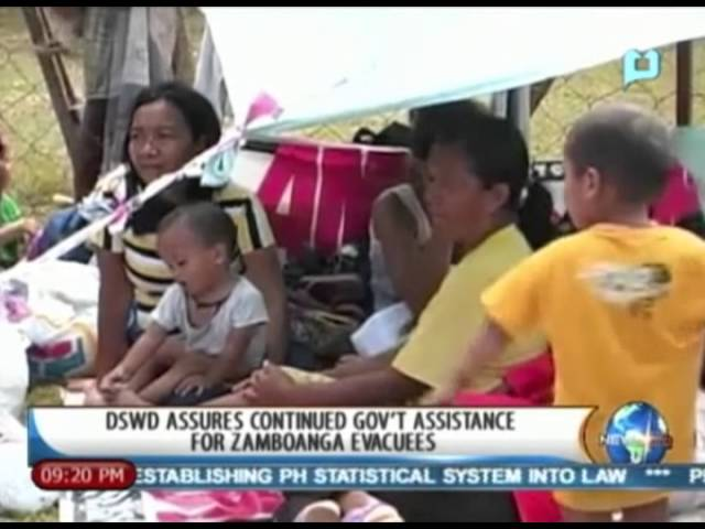 NewsLife: DSWD assures continued gov't assistance for Zamboanga evacuees || Sept. 19, '13 Travel Video