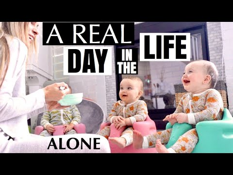 Download Mom's REAL day in the life with triplets all alone | The TRUTH of my life