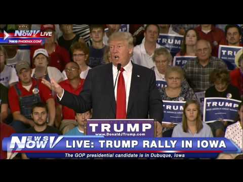 FNN: FULL Donald Trump Rally in Iowa - Loves The Bible - Hair is Real