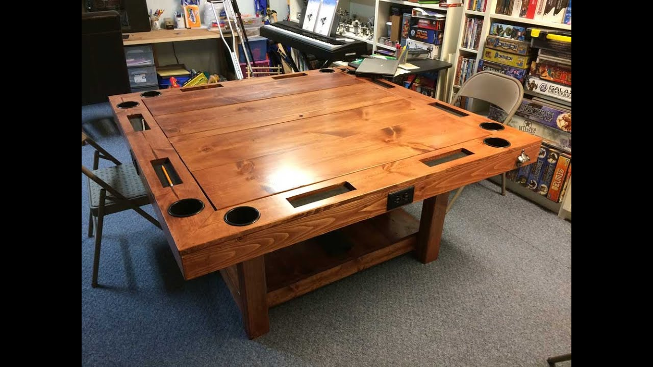 DIY Gaming Table For 40 YouTube Gorgeous Wooden Gaming Table