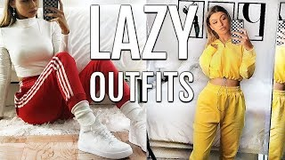 CUTE & SIMPLE LAZY OUTFITS FOR SCHOOL (OOTW) | HOW I STYLE SWEATPANTS