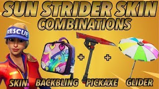"""Sun Strider"" BEST BACKBLING + SKIN COMBOS! (Season 5 skin) (Fortnite) (2018)"