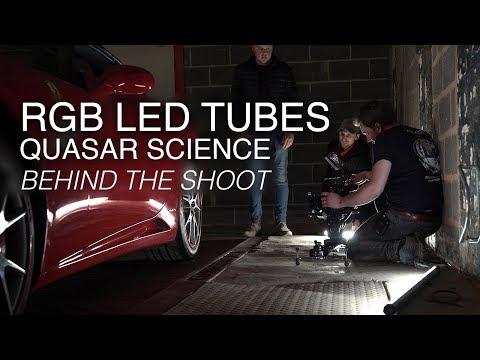 Quasar Science's RGB LED light tubes (Q-Rainbow RGBX lamp)   Behind the shoot