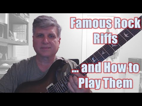 Classic Rock Riffs and How to Play Them. Live Stream for May 26