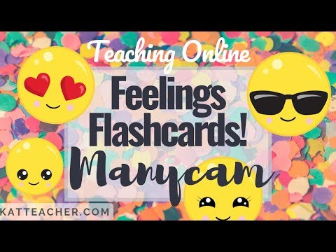 Manycam Monday Feelings Flashcards for Teaching English Online thumbnail