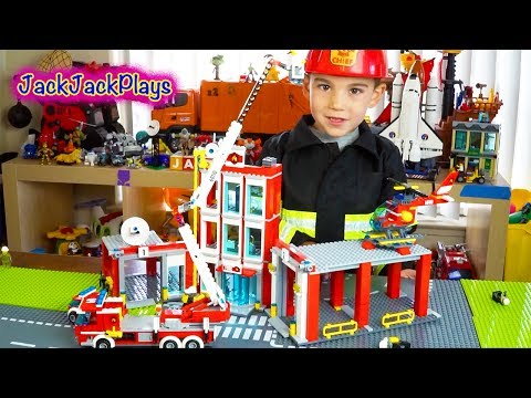 Thumbnail: Lego City Fire Station: Playing with Legos Toys: Fire Trucks for Children