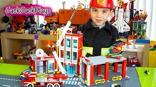 Lego City Fire Station: Playing with Legos Toys: Fire Trucks for Children