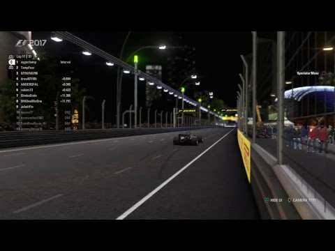 maune77s Live PS4 F1 2017 - Singapore Grand Prix front row racing season 8