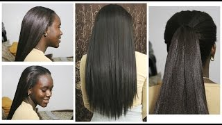 How to Install Natural Looking Sew-in Weave with Synthetic hair