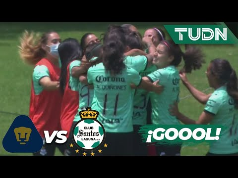 ¡GOOL! ¡Cinthya Peraza marca un golazo! | Pumas 0-1 Santos |Guard1anes 2020 Liga Mx Femenil J1 |TUDN