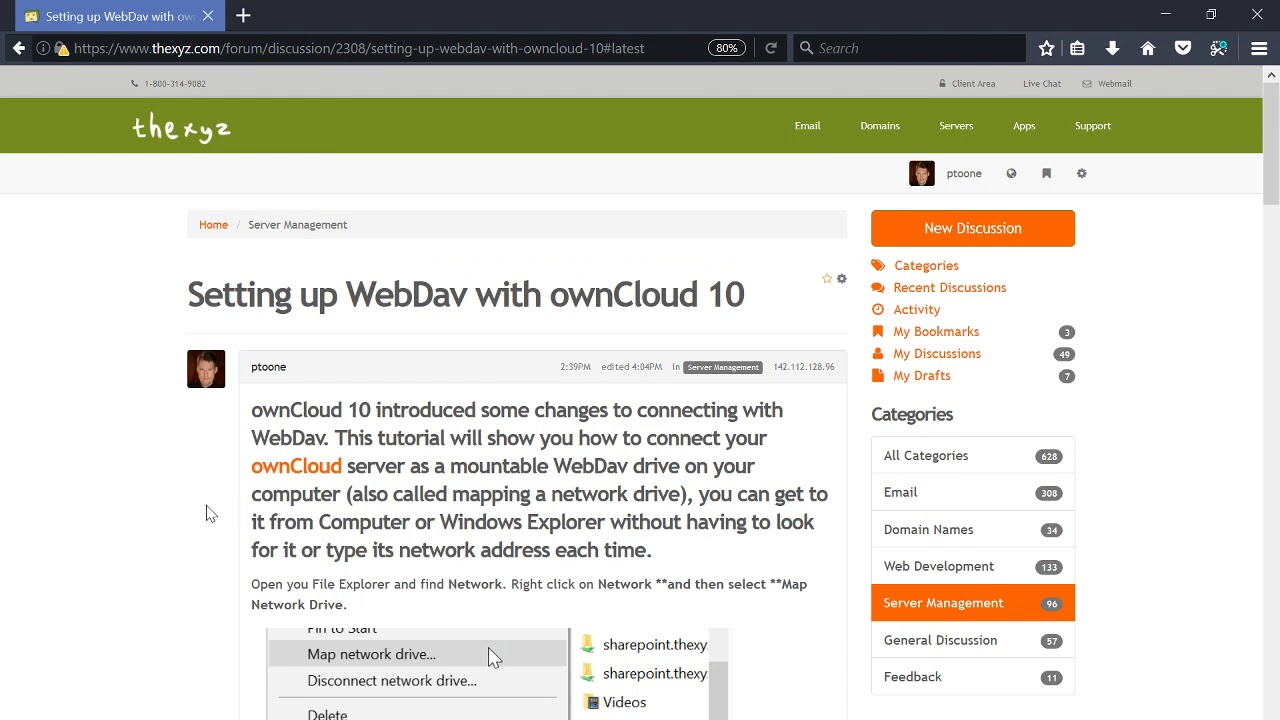 Connecting ownCloud via WebDav