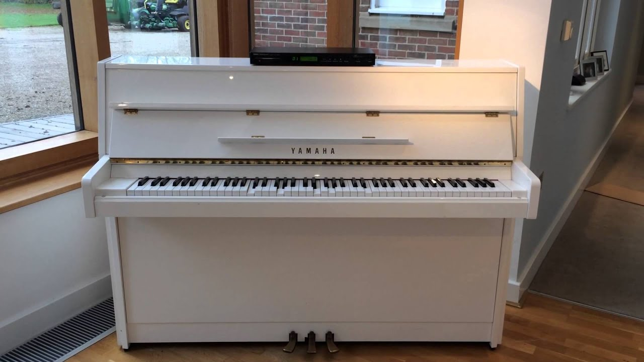 Yamaha disklavia white upright piano mx80 for sale on ebay for White yamaha piano