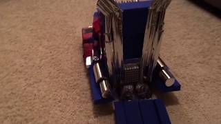 DIY Optimus Prime Kids Costume indoor trial