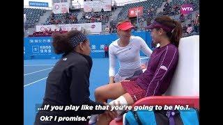 Maria Sharapova's kind words to injured Wang Xinyu