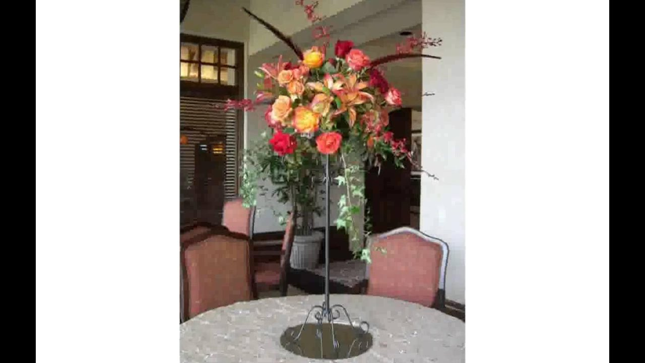 how to make tall flower arrangements